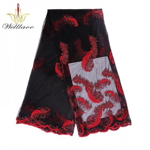 Nigerian Luxury Lace Fabric Nigeria Laces Fabric Red African Lace Fabric