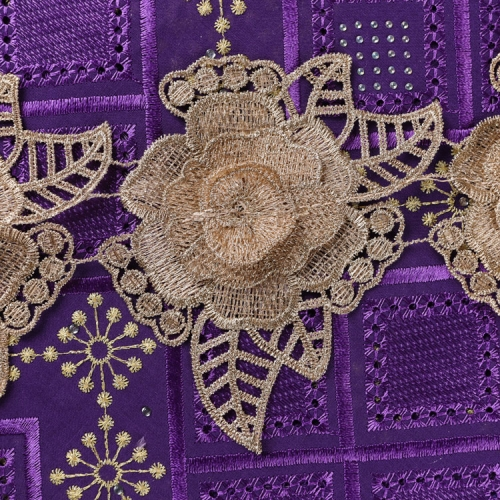 Border Lace trim Gold Metallic Thread Embroidery 3D Flower Guipure Lace Trim by the Yard