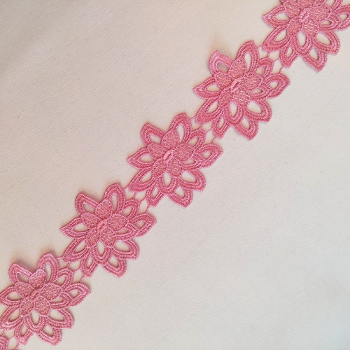 Rose Flower Water Soluble Lace Trim Wholesale Embroidery Flower African Lace Trim