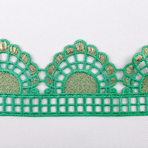 2020 Newest African Design Guipure Green Lace Trim for Decoration 10 cm Lace Trimming by Yard