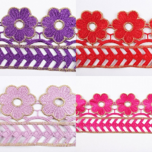 Latest flower design trim lace for clothing 10 cm decoration lace trimming stock lot