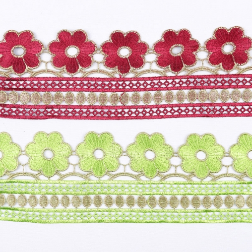 Elegant High Grade Embroidery Lace Trim Ribbon Border for Garment Decoration