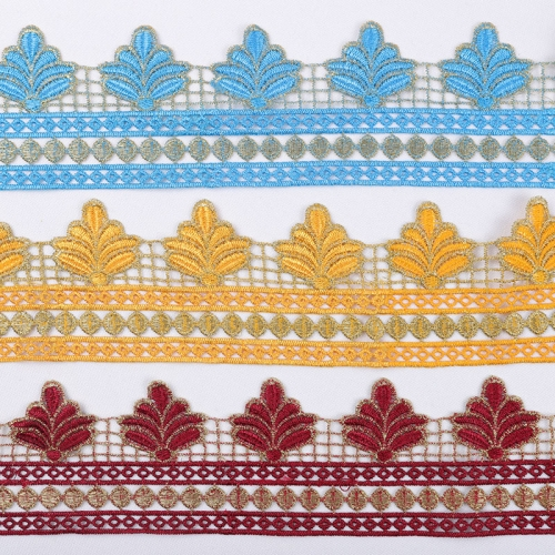 2020 Highest Quality Factory Wholesale Embroidery Sew-on Lace Trim for Home Textile