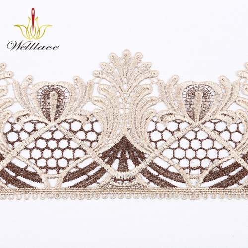 Popular Design in Southeast Asia of Trim Lace for Women Clothing Floral Design Lace Trimming by Yard